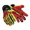 HexArmor 4036-10 Cut Resistant Gloves, Yellow/Red, XL, PR