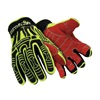 HexArmor 2021 9/L Cut Resistant Gloves, Yellow/Black, L, PR