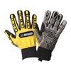 Impacto WGRIGGXL Anti-Vibration Gloves, XL, Black/Yellow, PR