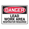Accuform MCAW121VP Danger Sign, 10 x 14In, R and BK/WHT, PLSTC