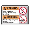 Accuform MSCA307VP Warning No Smoking Sign, 10 x 14In, PLSTC