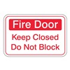 United Visual Products UVOS1038 Fire Door Sign, 6 x 9In, R/WHT, ACRYL, ENG