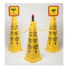 Tough Guy 6VKR8 TRFC Cone Kit, Safety First, Yellow