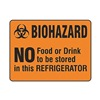 Brady 20329LS Biohazard Label, 3-1/2 In. W, 5 In. H, PK20