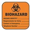 Brady 22350LS Biohazard Label, Write Info, PK100