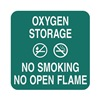 Sign Comply 42297-10 MERIDIAN No Smoking Sign, 5-1/2 x 5-1/2In, WHT/MER