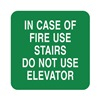 Sign Comply 42307-11 GREEN Fire Stairways Sign, 5-1/2 x 5-1/2In, ENG