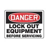 Regusafe MLKT014VA Danger Security Sign, 10 x 14In, AL, ENG
