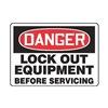 Regusafe MLKT014VA Danger Security Sign, 10 x 14In, AL, ENG