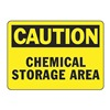 Accuform Signs MCHL652VP Caution Sign, 7 x 10In, BK/YEL, PLSTC, ENG