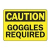 Accuform MPPE424VS Caution Sign, 7 x 10In, BK/YEL, Self-ADH