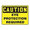 Accuform MPPE791VP Caution Sign, 7 x 10In, BK/YEL, PLSTC, ENG