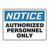 Accuform MADMN12VP Notice Sign, 10 x 14In, BL and BK/WHT, ENG