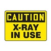 Accuform Signs MRAD642VP Caution Radiation Sign, 7 x 10In, BK/YEL