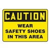 Accuform MPPEC41VA Caution Sign, 10 x 14In, BK/YEL, AL, ENG