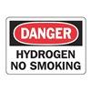 Accuform MCHL072VA Danger No Smoking Sign, 7 x 10In, AL, ENG