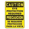 Accuform MSPP619XF Caution Sign, 20 x 14In, BK/YEL, Fiberglass