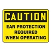 Accuform MPPE437VP Caution Sign, 7 x 10In, BK/YEL, PLSTC, ENG
