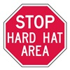 Lyle ST-019-6HA Facility Sign, 6 x 6In, WHT/R, AL, ENG, Text