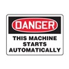 Accuform MEQM153VS Danger Sign, 7 x 10In, R and BK/WHT, ENG