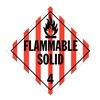Stranco Inc DOTP-0042-T10 Vehicle Placard, Flam Solid w Picto, PK10