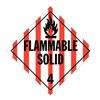 Stranco Inc DOTP-0042-V10 Vehicle Placard, Flam Solid w Picto, PK10