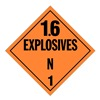 Stranco Inc DOTP-0103-PS Vehicle Placard, 1.6 Explosive
