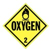 Stranco Inc DOTP-0035-PS Vehicle Placard, Oxygen with Pictogram