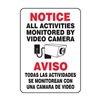 Accuform Signs SBMASE809VA Notice Security Sign, 14 x 10In, AL, SURF