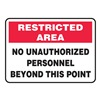 Accuform MADMG03VS Admittance Sign, 10 x 14In, R and BK/WHT