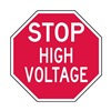 Lyle ST-021-6HA Facility Sign, 6 x 6In, WHT/R, AL, Stop HV