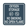 Intersign 62199-5 COLONIAL BLU No Smoking Sign, 5-1/2 x 5-1/2In, PLSTC