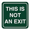Intersign 62191-1 BLACK No Exit Sign, 5-1/2 x 5-1/2In, WHT/BK, ENG