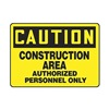Accuform MEQM602VA Caution Sign, 10 x 14In, BK/YEL, AL, ENG
