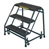 Ballymore 318P GRAY Rolling Ladder, Steel, 28-1/2 In.H