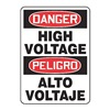 Accuform MSPD14VP Danger Sign, 14 x 10In, R and BK/WHT, PLSTC