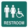 Intersign ALTC-RG62 MERIDIAN Restroom Sign, 8 x 8In, WHT/MER, PLSTC, ENG