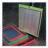 Baw Plastics SEWNHDR 12X15GRN Shop Env, 15 x 12 In, Fluor Grn, Plstc, PK50