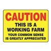 Accuform Signs MEQM697VS Caution Sign, 10 x 14In, R and BK/YEL, ENG