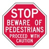 Lyle ST-015-12HA Stop Sign, 12 x 12In, WHT/R, AL, Text