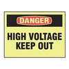 Accuform MELCGLD01GP Danger Sign, 10 x 14In, R and BK/YEL, PLSTC
