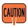 Tapco 535-00064 Traffic Cone Sign, Orange w/Black, Caution