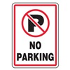 Accuform Signs MVHR402VS Parking Sign, 14 x 10In, R and BK/WHT