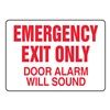 Accuform MEXT591VP Fire Exit with Alarm Sign, 7 x 10In, R/WHT