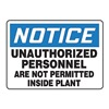 Accuform MADM841VA Notice Sign, 10 x 14In, BL and BK/WHT, AL