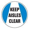 Accuform MFS215 Floor Sign, 8In, Keep Aisles Clear, PK 2