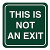 Intersign 62191-11 GREEN No Exit Sign, 5-1/2 x 5-1/2In, WHT/GRN, ENG
