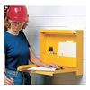 Wallwrite WW-100SC-T93 WallwriteStation, SelfClosing, Lockabl, Ylw