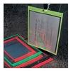 Baw Plastics SEWNHDR 6X9GRN Shop Env, 9 x 6 In, Fluor Grn, Plstc, PK50