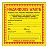 Accuform Signs MHZW20PSP Hazardous Waste Label, 6 In. W, PK 25